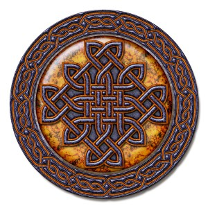 Shield design for a Celtic knot