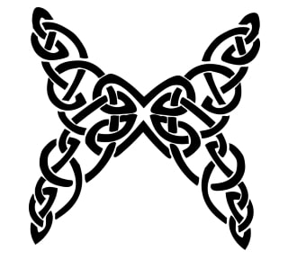 example celtic butterfly design (including also knots)