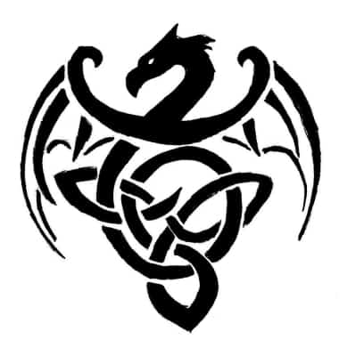 One of many popular Celtic Dragon inking designs
