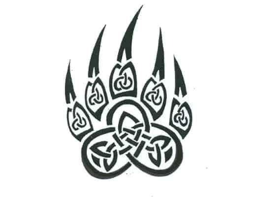 basic inking design based on Celtic Bear Claw