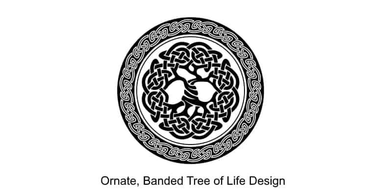 semi-ornate tree of life design for a Celtic tattoo