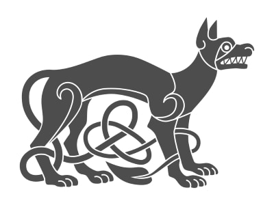 One example of a Celtic Dog design